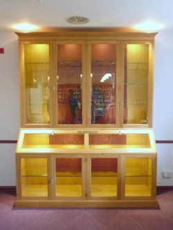 corwelloak display cabinet