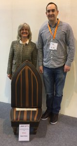 BFM-md-Jackie-Bazeley-with-winner-of-the-BFM-prize-in-the-Heico-Design-Awards-Robert-Davey-with-his-boat-chair